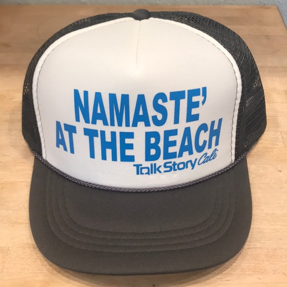 4986be5c7706f Namaste  at the Beach Trucker hat